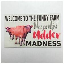 Cow Welcome Decorative Plaques & Signs