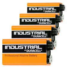 4 Duracell INDUSTRIAL 9V Batteries Alkaline 9V MN1604 Smoke Alarm 9V  VALUE PACK