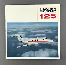 HAWKER SIDDELEY HS125 MANUFACTURERS SALES BROCHURE CUTAWA PRIVATE JET 1966