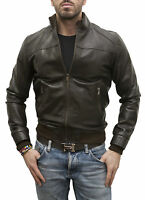 Giacca Giubbotto in di Pelle Uomo Men Leather Jacket Veste Homme Cuir SM02Ps