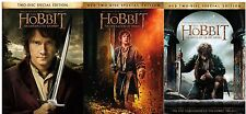 The Hobbit Trilogy 1 2 3  (DVD, WS, 2015, 6-Disc Set) FREE SHIPPING NEW