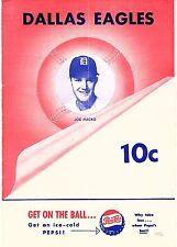 1952 DALLAS EAGLES vs SHREVEPORT SPORTS Baseball Program/Scorecard