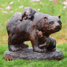 SPI Home Playtime Garden Decor Sculpture Resin Bear and Cubs - 50869