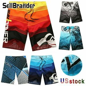 Men Board Beach Shorts Surf Sport Swim Wear Leisure Trunks Pants Swimsuit 30-38