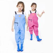 Kids Chlidren Chest Waders PVC Waterproof Pants Waders Ourdoor Play Fishing Wear