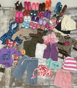 Doll Clothing Lot~68 pieces. Fits 18inch Doll. America Girl, My Life, Battat, OG