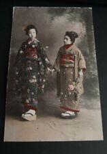 Vintage Japan Postcard - Geisha Girls (ref 7)