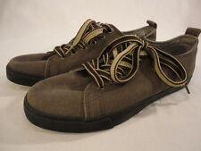 Men's Boys Robert Wayne Olive Canvas Tennis Walking Sneakers Shoes (Size 8)
