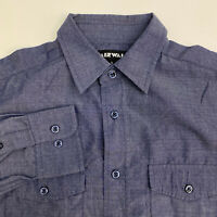 Airwalk Button Up Shirt Mens Small Blue Long Sleeve Casual