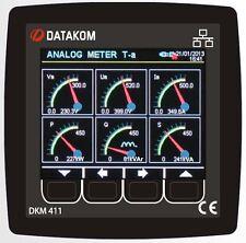 DATAKOM DKM-411 network analyser multimeter panel,ethernet,USB,RS485,RS232,I/O
