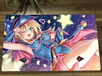 Anime Dark Magician Girl Playmat Trading Card Game DMG Yugioh Play Mat + Bag