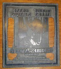 guerre et amour woody allen plaque imprimerie cinema publicite