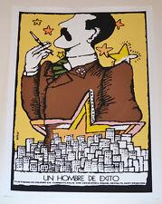 Cuban Original SILKSCREEN Movie POSTER.Handmade art.A Succesful Man.Exito Man