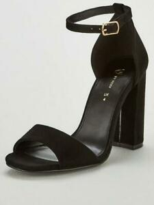 V by Very bessie strap block heel sandal shoes uk size 6