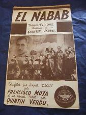 Partition El nabab Quintin Verdu 1948 Music Sheet