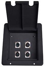 Elite Core FB4-NE8FD Recessed Stage Pocket Floor Box w/ 3 XLR, 1 EtherCon Cat5e