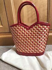 Lulu Guinness Vintage Straw Tote Bag