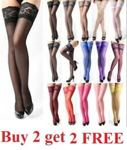 USA Fashion Lady's Lace Top Stay Up Thigh-High Stockings Woman Pantyhose Socks