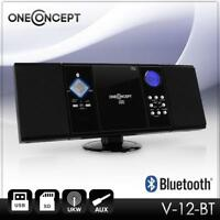 (B-WARE) VERTIKAL STEREO KOMPAKT ANLAGE BLUETOOTH HIFI CD SPIELER MP3 PLAYER USB