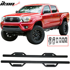 05-15 Toyota Tacoma Crew Cab Side Step Bar Running Boards Nerf Bar Black