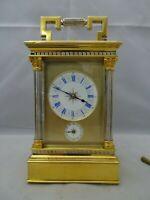 Pendule d'officier L. GALLOPIN avec boite à musique , carriage clock musical box