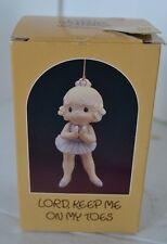 Precious Moments Porcelain Figure 1986 Lord Keep Me On My Toes Ornament