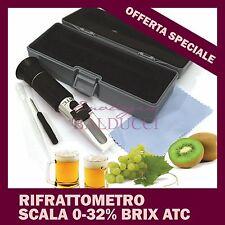 OFFERTA RIFRATTOMETRO 0-32%BRIX ATC CON COMPENSAZIONE TEMPERATURA UVA MOSTO