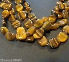 10 PERLE OEIL DE TIGRE PIERRE NATURELLE OVALE 12mm NATURAL TIGER EYE STONE BEADS