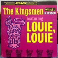 THE KINGSMEN in person louie louie LP VG+ WDS 657 Stereo 1963 Record