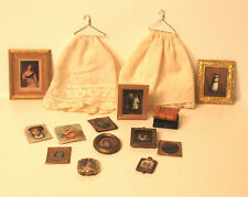 Assortment of Miniature Antique Tintypes, Prints and Other Accessories