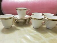 Royal Doulton England H5197 FORSYTH 6 CUPS AND 8 SAUCERS