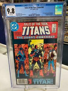 TALES of the TEEN TITANS #44 (NEWSSTAND) CGC 9.8 ~ NIGHTWING ~ White Pages