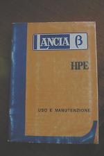 Libretto uso e manutenzione Lancia Beta (1 tra quelli elencati)