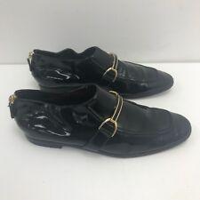 STELLA MCCARTNEY Black Formal Shoes Gold Buckle Zip Size UK 7 EU 40 371085