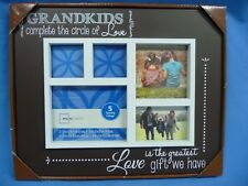 """NEW """"Grandkids complete the circle of Love"""" Photo Frame Holds 5 Photos"""