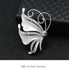 Fashion Butterfly Flower Brooches Pin Crystal Rhinestone Silver Gold Broach