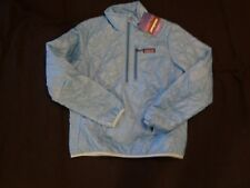 NEW WOMENS PATAGONIA NANO PUFF PULLOVER ALPINE CLIMBING JACKET SKY BLUE SIZE XS