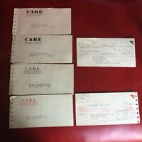 CARE Cooperative for American Remittances to Europe 1940's Vintage Food Receipt
