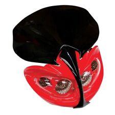 Faros delanteros color principal rojo para motos