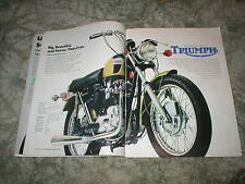 1971 TRIUMPH Motorcycle Ads ( Lot of 7 ) Original Street or Trail models