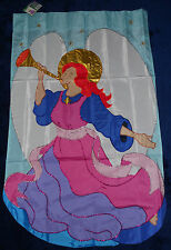 """New listing Angel Applique House Flag 28"""" X 44"""" - Metallic Thread Detail - New In Package"""