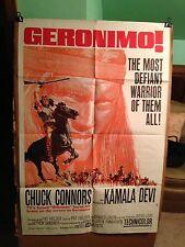 GERONIMO-CHUCK CONNORS(THE RIFLEMAN),KAMALA DAVI-1962-ORIGINAL MOVIE POSTER