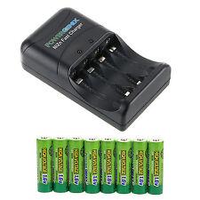 8 pcs Nizn 1.6V 2500mWh AA Battery GENIX With Power Genix ZR-PGX1HRAA-4B Charger