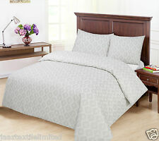 King_Silver/Grey Printed Pattern_Ground(Pale Cream/Off White) Duvet Cover Sets.