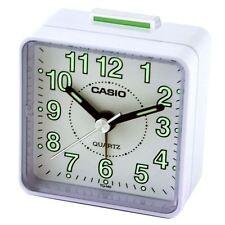 Casio TQ140-7 White Analogue Travel Quartz Beep Alarm Clock New