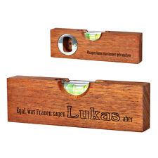 Mini Wasserwaage mit Flaschenöffner 2 Seitige Gravur Spruch über Frauen