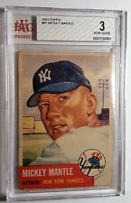 1953 Topps #82 Mickey Mantle HOF BVG 3 VG Short Print (SP) New Buy It Nows Daily