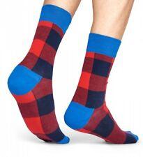 Happy Socks Socken Lumberjack, Holzfäller, große Karos rot / blau 36-40 + 41-46