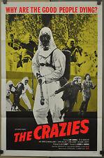 THE CRAZIES 1973 ORIGINAL 27X41 MOVIE POSTER GEORGE A. ROMERO LANE CARROLL