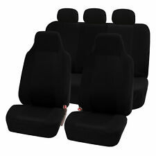 Highback Seat Covers Seat For Auto Car SUV Van Full Set Solid Black